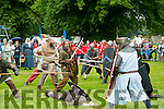 At the Feile na Blath Battle for Tralee reenactment  in the Town park on Saturday
