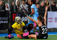 Deanna Ritchie of the Blacksticks scores during the international hockey match between the Blacksticks Women and India, Rosa Birch Park, Pukekohe, New Zealand. Sunday 14  May 2017. Photo:Simon Watts / www.bwmedia.co.nz