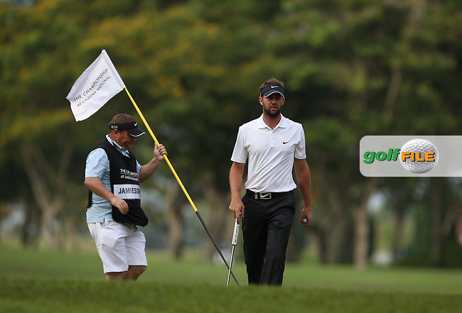 Scott Jamieson (SCO) shoots a 64 with just one bogey on the card during Round One of the The Championship 2014 from the Laguna National Golf & Country Club, Tampines, Singapore. Picture:  David Lloyd / www.golffile.ie