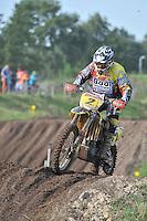 MOTORCROSS: JOURE: 25-08-2013, Circuit Polderbosk, Sipke Booi (#2) uit Langweer van de Booi Brothers, ©foto Martin de Jong