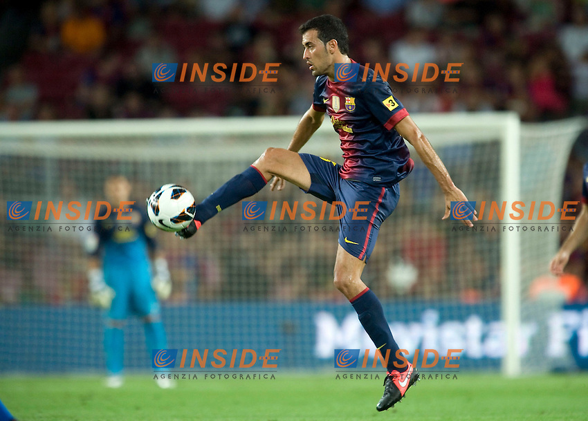 Sergio Busquets (Barcelone) .Barcellona 19/08/2012.Football Calcio 2012/2013.Barcelona vs Real Sociedad.Liga spagnola.foto Insidefoto .Italy Only