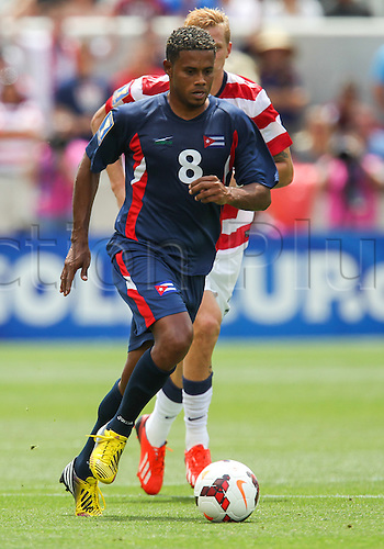 13.07.2013. Sandy, Utah, USA.Cuba midfielder Jaine Colome (8) during the CONCACAF Gold Cup soccer match between USA Men's National team and Cuba at Rio Tinto Stadium in Sandy, UT. USA.