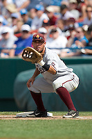 Arizona State's Riccio Torrez in Game 7 of the NCAA Division One Men's College World Series on Monday June 22nd, 2010 at Johnny Rosenblatt Stadium in Omaha, Nebraska.  (Photo by Andrew Woolley / Four Seam Images)