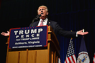 Ashburn, VA - August 2, 2016: Republican presidential candidate and businessman Donald J. Trump speaks to supporters during a campaign event in Ashburn, VA, August 2, 2016.  (Photo by Don Baxter/Media Images International)