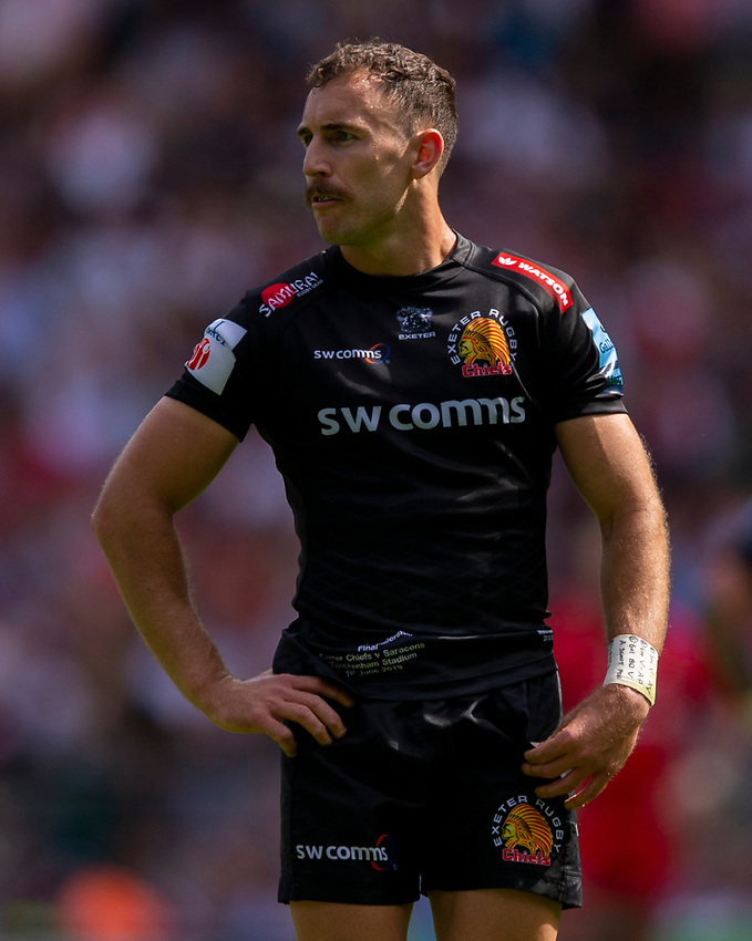 Exeter Chiefs' Nic White<br /> <br /> Photographer Bob Bradford/CameraSport<br /> <br /> Gallagher Premiership Final - Exeter Chiefs v Saracens - Saturday 1st June  2018 - Twickenham Stadium - London<br /> <br /> World Copyright © 2019 CameraSport. All rights reserved. 43 Linden Ave. Countesthorpe. Leicester. England. LE8 5PG - Tel: +44 (0) 116 277 4147 - admin@camerasport.com - www.camerasport.com