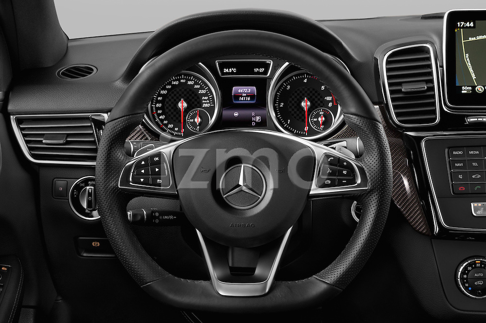 Car pictures of steering wheel view of a 2016 Mercedes Benz GLE-Class 5 Door SUV Steering Wheel