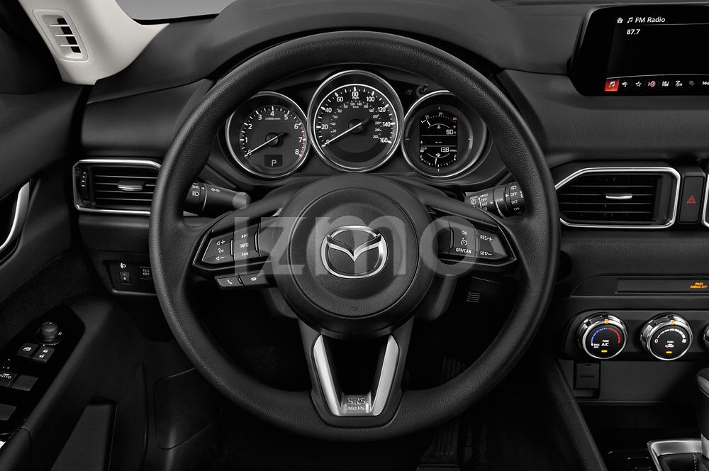 Car pictures of steering wheel view of a 2017 Mazda CX-5 Sport 5 Door SUV