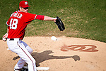 Washington Nationals left-handed pitcher Ross Detwiler (48) throws during a game against the Miami Marlins at Nationals Park in Washington, DC on September 8, 2012.