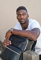 Pro-bowl wide receiver for the Denver Broncos Emmanuel Sanders at his home in Denver, Colorado, Tuesday, September 13, 2016. <br /> <br /> Photo by Matt Nager