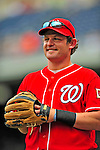 24 May 2009: Washington Nationals' right fielder Austin Kearns warms up prior to a game against the Baltimore Orioles at Nationals Park in Washington, DC. The Nationals rallied to defeat the Orioles 8-5 and salvage one win of their interleague series. Mandatory Credit: Ed Wolfstein Photo