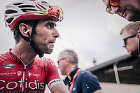 Daniel Navarro (ESP/Cofidis) looked strong enough to solo-win the final stage of the 2018 Dauphiné as he was ultimately reeled in with less then 100m to go by stage winner Adam Yates.<br /> <br /> Stage 7: Moûtiers > Saint-Gervais Mont Blanc (129km)<br /> 70th Critérium du Dauphiné 2018 (2.UWT)