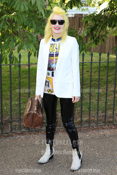 Pam Hogg arriving for the Serpentine Summer Party, at the Serpentine Gallery, Hyde Park, London. 01/07/2014 Picture by: Alexandra Glen / Featureflash