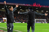 Wigan Athletic Assistant Leam Richardson and Wigan Athletic Manager Paul Cook appeal for a penalty late in the game during AFC Bournemouth vs Wigan Athletic, Emirates FA Cup Football at the Vitality Stadium on 6th January 2018
