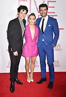 WESTWOOD, CA - MARCH 07: (L-R) Cole Sprouse, Haley Lu Richardson and Justin Baldoni attend the Premiere Of Lionsgate's 'Five Feet Apart' at Fox Bruin Theatre on March 07, 2019 in Los Angeles, California.<br /> CAP/ROT/TM<br /> &copy;TM/ROT/Capital Pictures