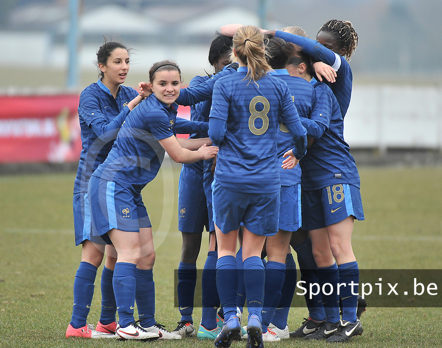 France U19 - Russia U19 : France Celebrating .foto DAVID CATRY / Nikonpro.be