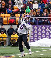 University at Albany Men's Lacrosse defeats Drexel 18-5 on Feb. 24 at Casey Stadium.  UA goalkeeper JD Colarusso (#9). (Photo by Bruce Dudek / Cal Sport Media/Eclipse Sportswire)