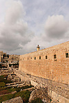 Israel, Jerusalem Archaeological Park, a view from the Crusader Tower of the southwestern corner of Temple Mount<br />