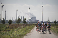 race leaders racing against the wind<br /> <br /> 91th Schaal Sels 2016