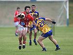 Hunterstown Rovers Padraig Mathews St. Mochtas Ultan Larney. Photo:Colin Bell/pressphotos.ie