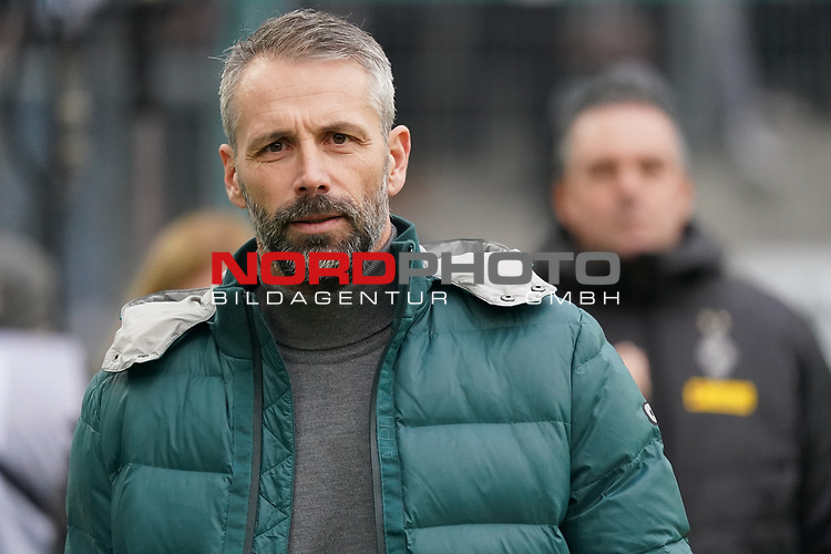 01.12.2019, Borussia Park , Moenchengladbach, GER, 1. FBL,  Borussia Moenchengladbach vs. SC Freiburg,<br />  <br /> DFL regulations prohibit any use of photographs as image sequences and/or quasi-video<br /> <br /> im Bild / picture shows: <br /> Marco Rose Chefrainer/Headcoach (Gladbach), vor dem Spiel<br /> <br /> Foto © nordphoto / Meuter