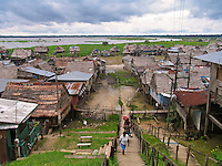 Belen shanty town on Amazon, Iquitos, Peru