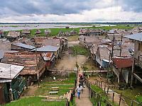 Belen shanty town on Amazon, Iquitos, Peru