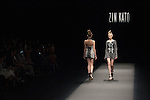 A model on the runway for the Zin Kato 2016 spring summer collection during the Mercedes-Benz Fashion Week Tokyo on October 17th, 2015 in Tokyo, Japan. (Photo by Michael Steinebach/AFLO)