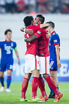 Guangzhou Forward Ricardo Goulart (L) celebrating his score with Guangzhou Midfielder Paulinho Maciel (R) during the AFC Champions League 2017 Group G match between Guangzhou Evergrande FC (CHN) vs Suwon Samsung Bluewings (KOR) at the Tianhe Stadium on 09 May 2017 in Guangzhou, China. Photo by Yu Chun Christopher Wong / Power Sport Images