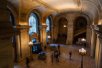 US, New York City. Interior, New York Public Library at 5th Avenue.