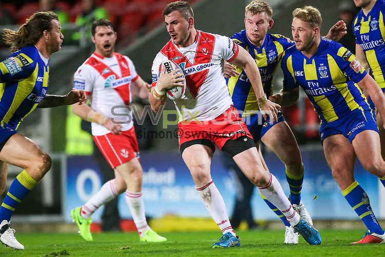 Picture by Alex Whitehead/SWpix.com - 24/03/2017 - Rugby League - Betfred Super League - St Helens v Warrington Wolves - The Totally Wicked Stadium, St Helens, England - St Helens' Adam Walker in action.