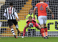 Luton Town goalkeeper Christian Walton claims the ball during the Sky Bet League 2 match between Notts County and Luton Town at Meadow Lane, Nottingham, England on 29 October 2016. Photo by Liam Smith / PRiME Media