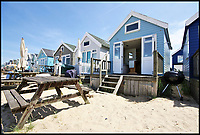 Millionaires row for beach huts...