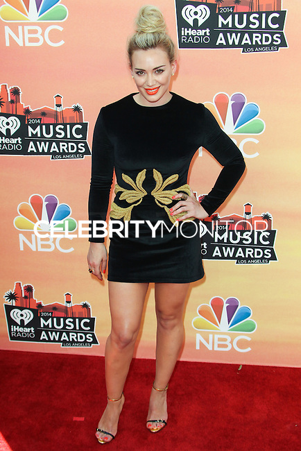LOS ANGELES, CA, USA - MAY 01: Hilary Duff at the iHeartRadio Music Awards 2014 held at The Shrine Auditorium on May 1, 2014 in Los Angeles, California, United States. (Photo by Celebrity Monitor)