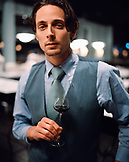 USA, California, Los Angeles, portrait of the sommelier at Osteria Mozza.