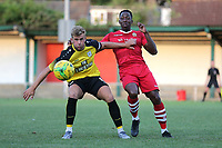 Ben Swift of Margate and Chris Dickson of Hornchurch during Hornchurch vs Margate, BetVictor League Premier Division Football at Hornchurch Stadium on 13th August 2019