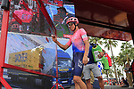 Rigoberto Uran (COL) EF Education First at sign on before the start of Stage 4 of La Vuelta 2019 running 175.5km from Cullera to El Puig, Spain. 27th August 2019.<br /> Picture: Eoin Clarke | Cyclefile<br /> <br /> All photos usage must carry mandatory copyright credit (© Cyclefile | Eoin Clarke)