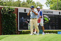 Francesco Molinari (ITA) snacks as he makes his way down 1 during round 1 of the 2019 Charles Schwab Challenge, Colonial Country Club, Ft. Worth, Texas,  USA. 5/23/2019.<br /> Picture: Golffile | Ken Murray<br /> <br /> All photo usage must carry mandatory copyright credit (© Golffile | Ken Murray)
