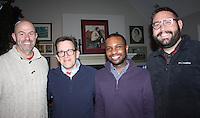 NWA Democrat-Gazette/CARIN SCHOPPMEYER Curt Stamp (from left), Kyle Kellams, Drew Wise and Blake Pennington help support the Jackson L. Graves Foundation on Dec. 18.