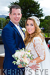 Rita O'Donoghue, Seskin, Co waterford, daughter of Michael and Maura, and Mike O'Donoghue, Racecourse Lawn Tralee son of Cormac and Maureen, who were married in the Prince of Peace church Fossa on Saturday, Fr Padraig Walsh officiated at the ceremony, best man was Andy Hartnett, groomsmen were Cathal & Jack O'Donoghue, Fergal Moynihan and Daniel O'Connell, bridesmaids were Lynsey Power and Lorraine Blackmore, the reception was held in the Brehon Hotel and the couple will reside in Australia