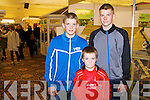 Dylan, Aaron and Tom McElligott from Kilflynn pictured at the Kerry ideal homes exhibition at the Brandon hotel on Sunday.