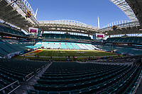 2nd February 2020, Miami Gardens, Miami, Florida USA; Superbowl LIV, Kansas City Chiefs versus San Francisco 49ers;   A general  view of the field and inside Hard Rock Stadium prior to Super Bowl LIV on February 2, 2020 at Hard Rock Stadium
