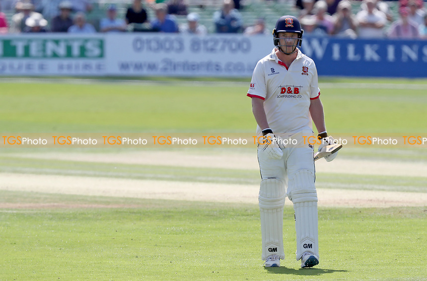 Tom Westley of Essex leaves the field having been given out - LBW - during Kent CCC vs Essex CCC, Specsavers County Championship Division 1 Cricket at the St Lawrence Ground on 20th August 2019
