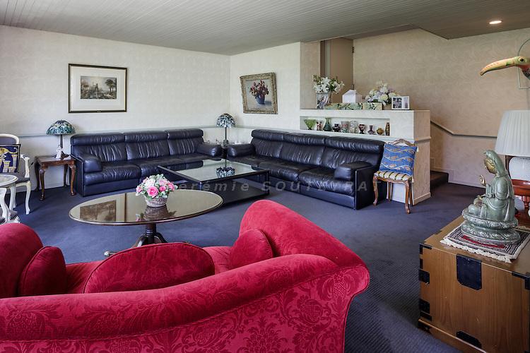 Tokyo, Japan, June 3 2016 - In the living room of former Prime Minister Yukio Hatoyama's residence.