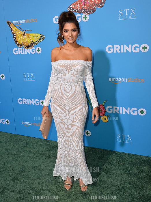 Blanca Blanco at the world premiere for &quot;Gringo&quot; at the L.A. Live Regal Cinemas, Los Angeles, USA 06 March 2018<br /> Picture: Paul Smith/Featureflash/SilverHub 0208 004 5359 sales@silverhubmedia.com