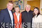 DEPARTING: A group of pilgrims departing Kerry Airport last Thursday on the annual Kerry pilgrimage to Lourdes, l-r: Fr Nicholas Flynn (Killarney), Wendy Garrett (Headford), Fr Bill Radley (Glenflesk), Helena Connolly (Killarney).