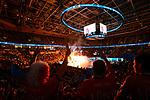 24.02.2019, SAP Arena, Mannheim<br /> Volleyball, DVV-Pokal Finale, VfB Friedrichshafen vs. SVG LŸneburg / Lueneburg<br /> <br /> †bersicht / Uebersicht SAP Arena Mannheim / Pyro<br /> <br />   Foto © nordphoto / Kurth