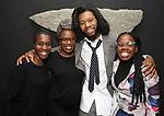 Awoye Timpo, Antoinette Nwandu, Jeremy O. Harris and Ngozi Anyanwu attends the Vineyard Theatre Paula Vogel Playwriting Award honoring Jeremy O. Harris on October 12, 2018 at the National Arts Club in New York City.