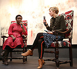 Antoinette Nwandu and Kate Tarker attends The Vineyard Theatre's Emerging Artists Luncheon at The National Arts Club on November 9, 2017 in New York City.
