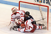 Jake Oettinger (BU - 29), Ted Hart (Yale - 19), Charlie McAvoy (BU - 7) The Boston University Terriers defeated the visiting Yale University Bulldogs 5-2 on Tuesday, December 13, 2016, at the Agganis Arena in Boston, Massachusetts.