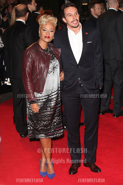 Adam Gouraguine, Emeli Sande arriving for the Royal World Premiere of 'Skyfall' at Royal Albert Hall, London. 23/10/2012 Picture by: Alexandra Glen / Featureflash